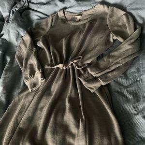 Cinched Waist Sweat Shirt Dress